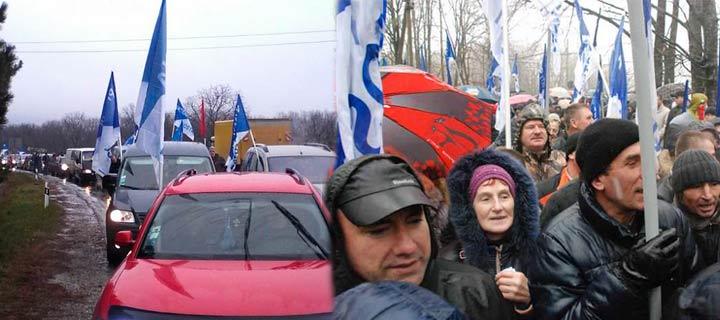 (VIDEO, FOTO) Reşedinţa lui Timofti la Condriţa – încercuită de sute de maşini ale Partidului Nostru!