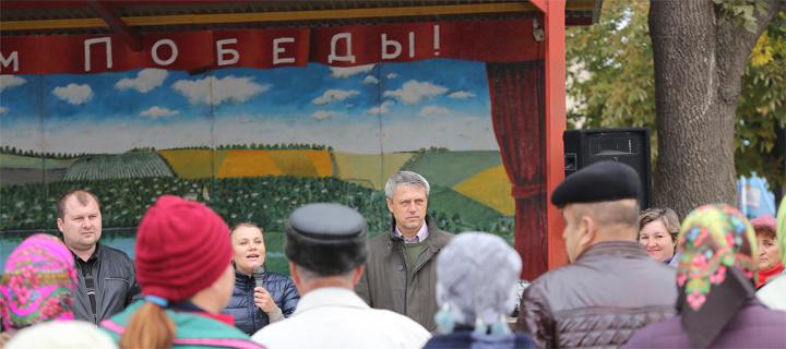 Чубашенко в Дрокиевском районе: Берите у них макароны и гречку, но голосуйте, как скажет совесть