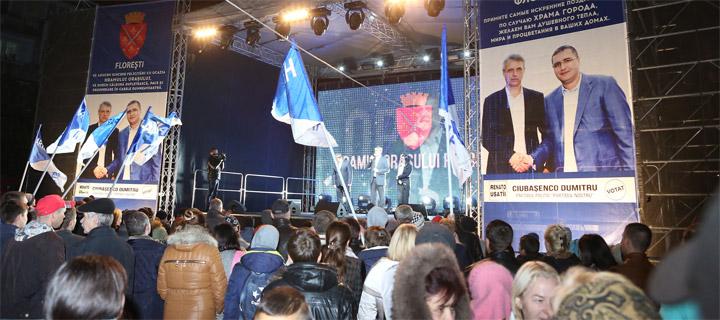 """Чубашенко во Флорештах: """"Мы знаем, как сменить власть, которая уничтожает страну"""""""