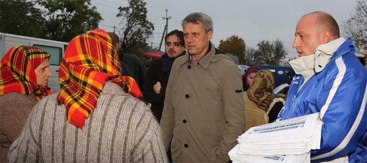 Чубашенко на севере Молдовы: С Плахотнюком у власти о пенсиях и речи быть не может!