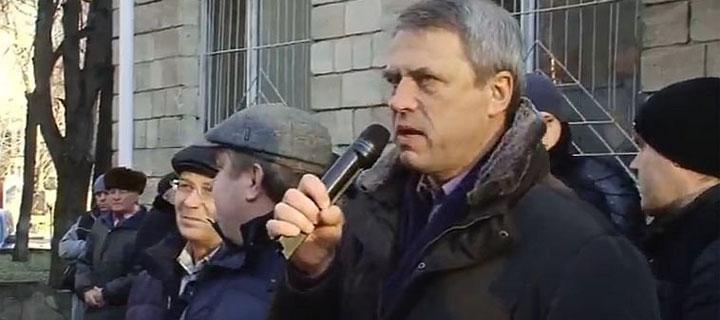 Чубашенко на митинге в защиту Усатого: всем палачам и прислужникам режима Плахотнюка – позор!