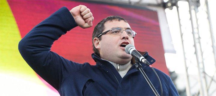"""Renato Usatîi a susținut """"Marșul solidarității împotriva corupției"""""""