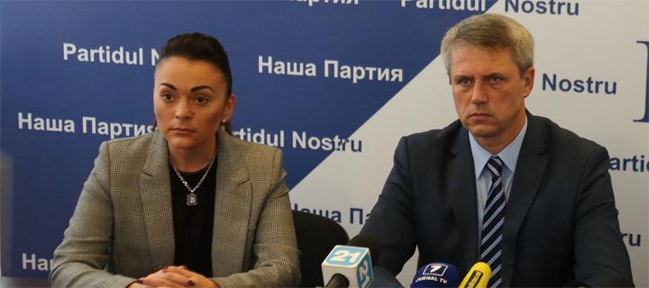 """Elena Grițco și Dumitru Ciubașenco, aleși în funcții de vicepreședinte al """"Partidului Nostru"""""""